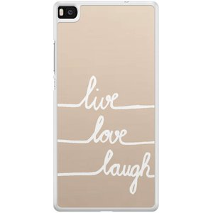 Casimoda Huawei P8 hoesje - Live, love, laugh