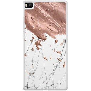 Casimoda Huawei P8 hoesje - Marble splash