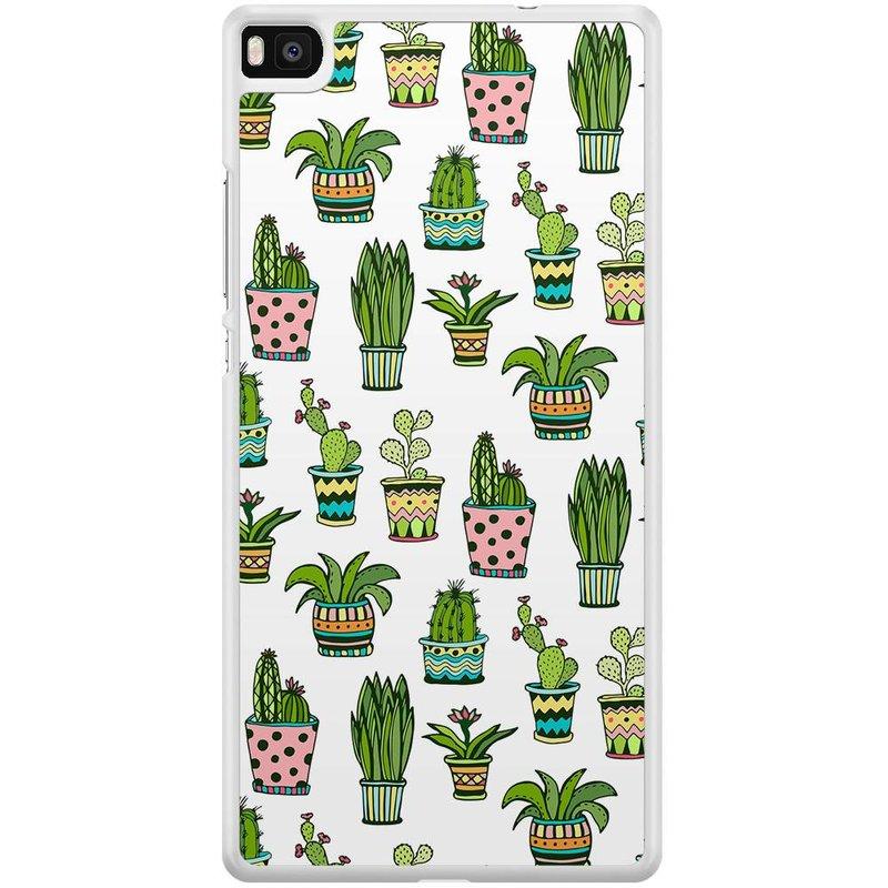 Casimoda Huawei P8 hoesje - Cactussen