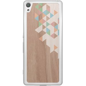 Casimoda Sony Xperia XA hoesje - Geo blocks on wood
