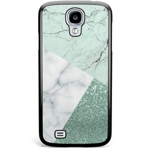 Samsung Galaxy S4 hoesje - Minty marmer collage