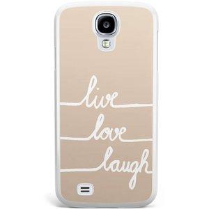 Samsung Galaxy S4 hoesje - Live, love, laugh