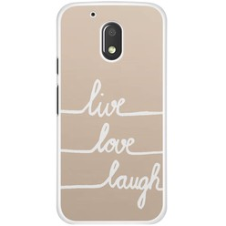 Motorola Moto G4 Play hoesje - Live, love, laugh