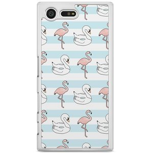 Sony Xperia X Compact hoesje - Flamingos x swans