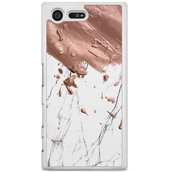 Sony Xperia X Compact hoesje - Marble splash