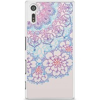 Sony Xperia XZ hoesje - Red & blue floral