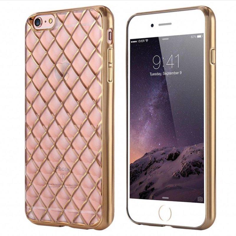 iPhone 6/6S siliconen hoesje - Raster roze