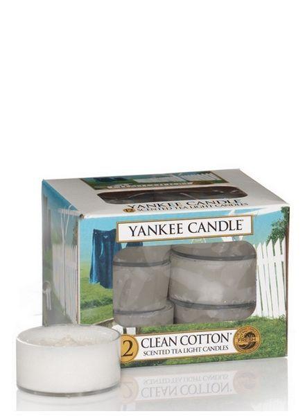 Yankee Candle Clean Cotton Theelichten
