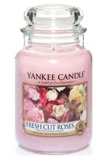 Yanke Candle Fresh Cut Roses Large Jar