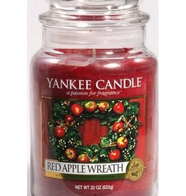 Yanke Candle Red Apple Wreath Large Jar