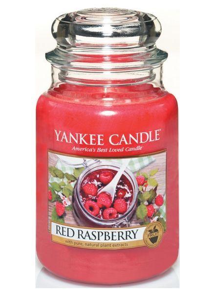 Yanke Candle Red Raspberry Large Jar