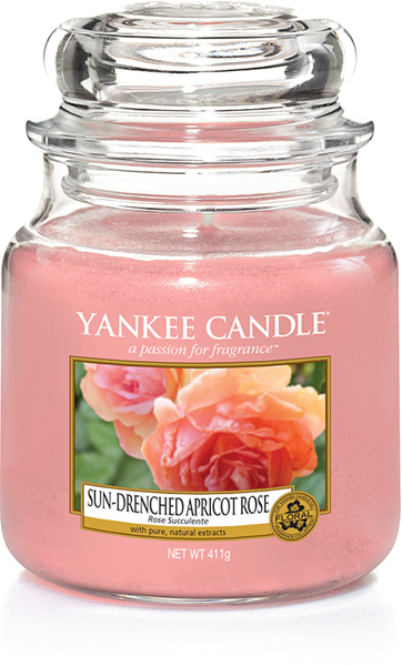 Yankee Candel Sun Drenched Apricot Rose Medium Jar