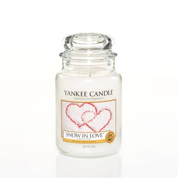 Yanke Candle Snow In Love Large Jar