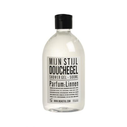 Mijn Stijl Douchegel Linnen 500 ml wit/zwart etiket