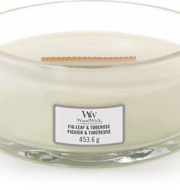 WoodWick Fig Leaf & Tuberose Hearthwick Ellipse Candle