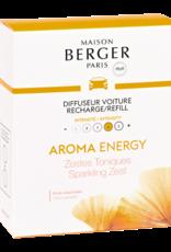 Maison Berger Navulling autoparfum 2 stuks - AROMA Energy Zestes Toniques