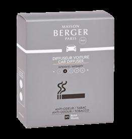 Maison Berger Navulling autoparfum 2 stuks - Anti-Odeur Tobacco