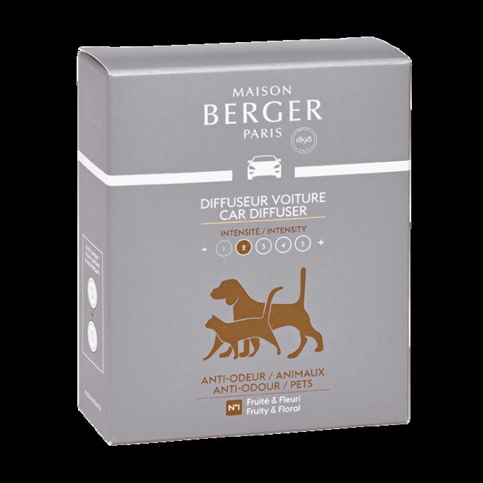 Maison Berger Navulling autoparfum 2 stuks - Anti-Odeur Animaux