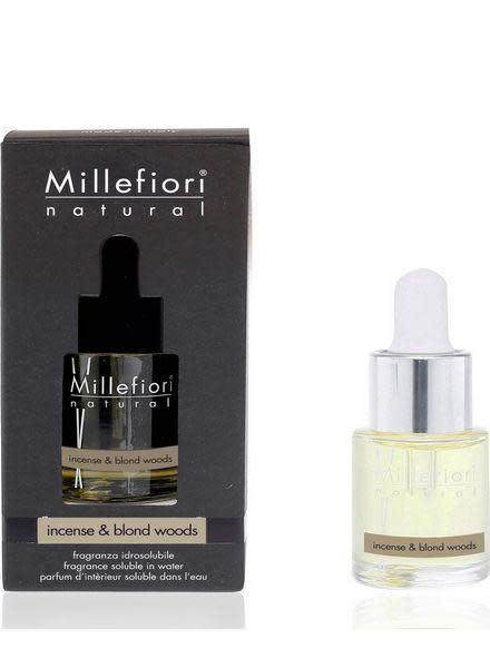 Millefiori Milano Incense & Blond Woods 15ml Geurolie