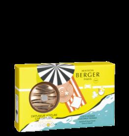 Maison Berger Autoparfum Coffret diffuser + 1 recharge Coco Monoï