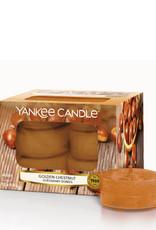 Yankee Candle Golden Chestnut Tea Light Candles