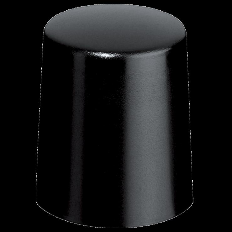 Afsluitdop zwart metaal