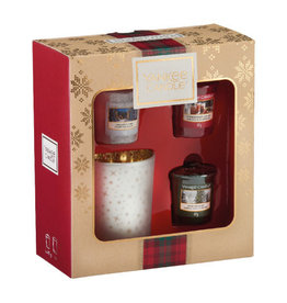 Yankee Candle Christmas Gift Collection 2019 3 Votive & Holder Gift Set