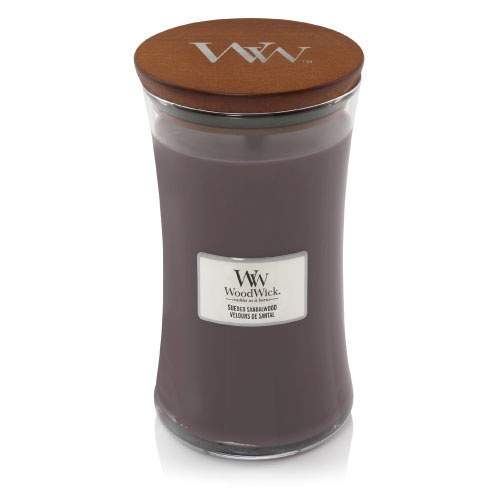 WoodWick Suede & Sandelwood Large Candle
