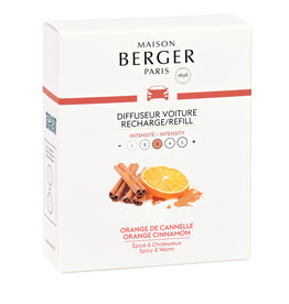 Maison Berger Navulling Autoparfum Orange Cinnamon