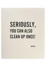 Mijn Stijl Vaatdoek biodegradable tekst seriously......