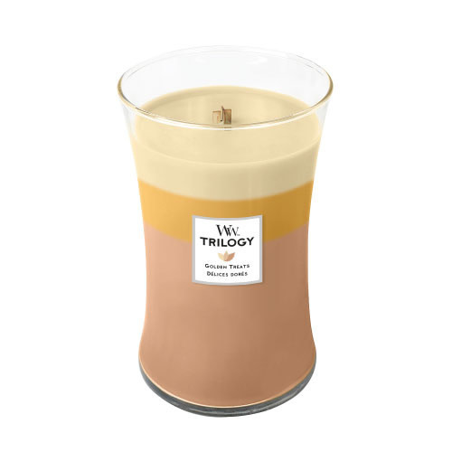 WoodWick Trilogy Golden Treats Large Candle