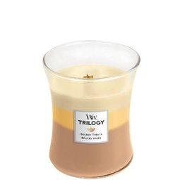 WoodWick Trilogy Golden Treats Medium Candle