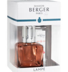 Lampe Berger Ice Cub Clacon Rose + 250ml Amour d' Hibiscus