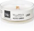 WoodWick linen Petite Candle