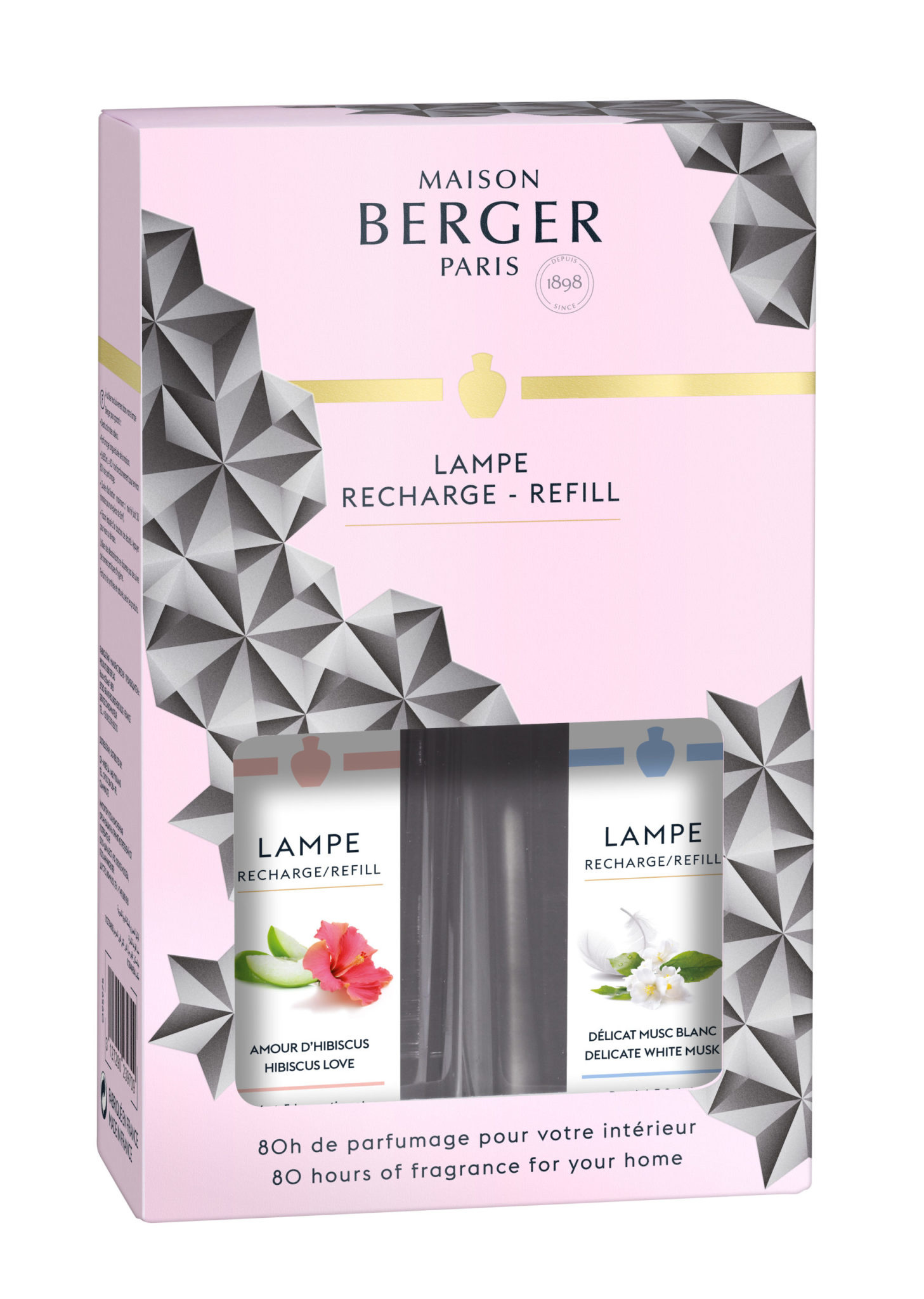 Maison Berger Black Crystal Delicate White Musk 250ml & Hibiscus Love @50ml