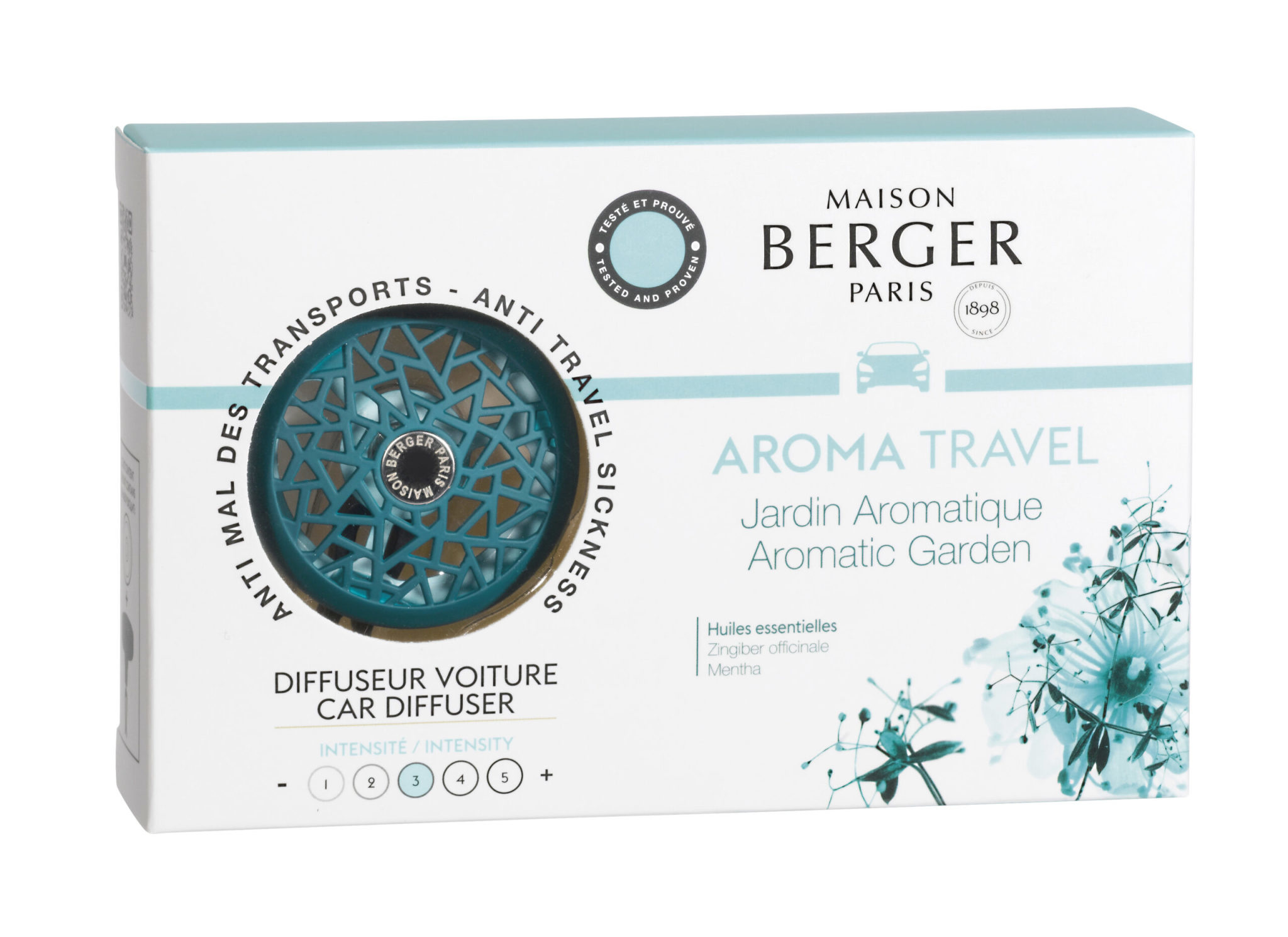 Maison Berger Teal Blue Aroma Travel  Autodiffuser