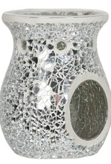 Crackle Burner Silver Lustre