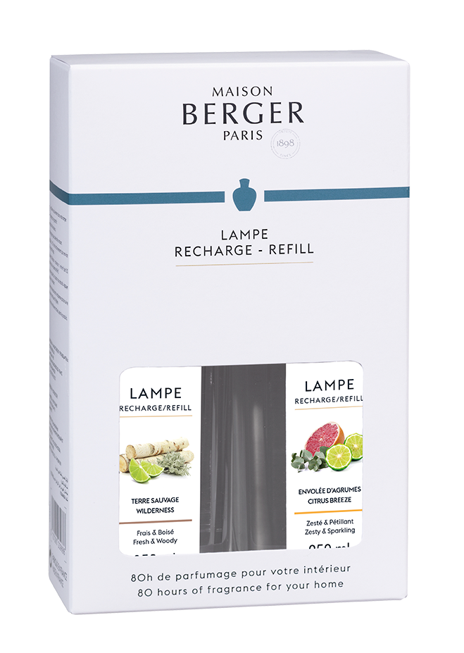 Lampe Berger Duopack Terre Sauvage & Envolée d' Agrumes