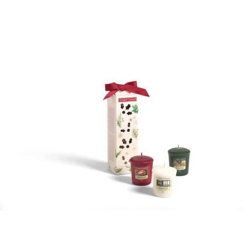 Yankee Candle Christmas Gift Set 3 Votive Geurkaarsen