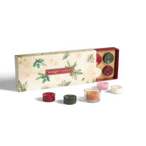 Yankee Candle Christmas Gift Set 10 Waxinelichtjes + 1 Houder