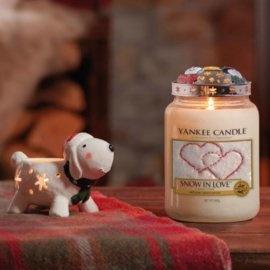 Yankee Candle Christmas Tea Light Holder Snowman Dog