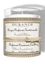 Durance Geurkaars handgemaakt 180 gr White Sandelwood