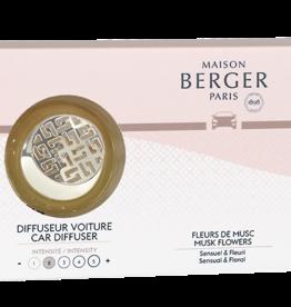Lampe Berger AutoParfum Startersset + 1 navulling SENSO - Fleurs de Musc