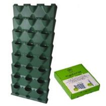8 lagen inclusief irrigatiesysteem, groen (144 x 63 x 13 cm)