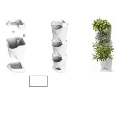 Minigarden Corner, wit (54 x 13 x 13 cm)