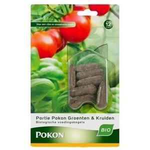 Pokon Bio Groenten & Kruiden voedingskegels 12 stuks