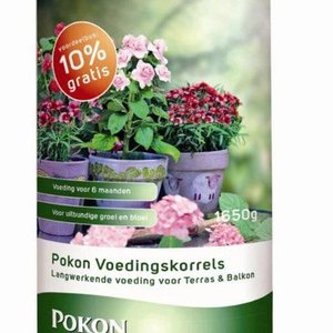 POKON  TERRAS & BALKON PLANTEN VOEDINGSKORRELS 1650 GRAM