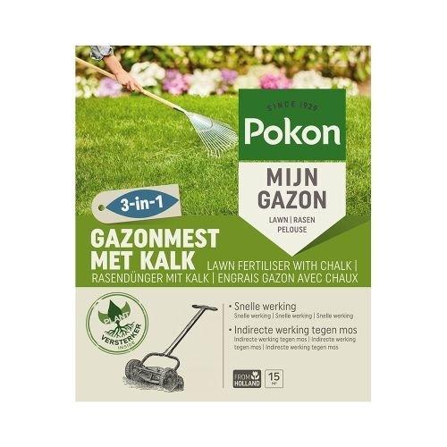 POKON  GAZONMEST MET KALK 3-IN-1 15M²