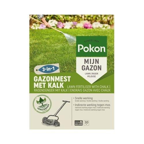 POKON  GAZONMEST MET KALK 3-IN-1 30M²