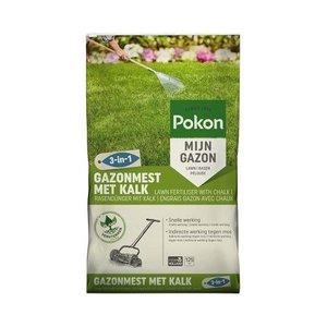 POKON  GAZONMEST MET KALK 3-IN-1 125M²